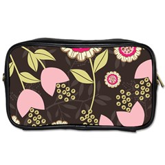 Flowers Wallpaper Floral Decoration Toiletries Bags 2 Side by Nexatart