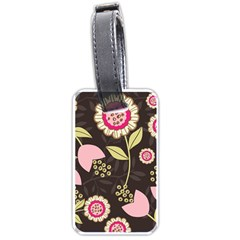 Flowers Wallpaper Floral Decoration Luggage Tags (two Sides)