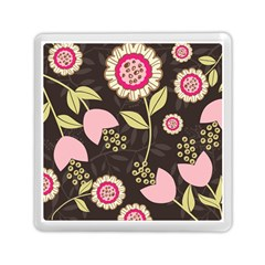 Flowers Wallpaper Floral Decoration Memory Card Reader (square)  by Nexatart