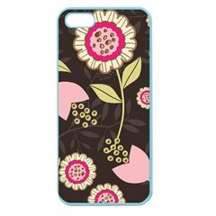 Flowers Wallpaper Floral Decoration Apple Seamless Iphone 5 Case (color) by Nexatart