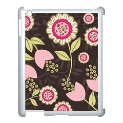 Flowers Wallpaper Floral Decoration Apple Ipad 3/4 Case (white) by Nexatart