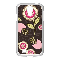 Flowers Wallpaper Floral Decoration Samsung Galaxy S4 I9500/ I9505 Case (white)