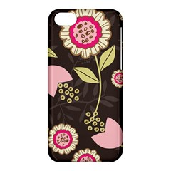 Flowers Wallpaper Floral Decoration Apple Iphone 5c Hardshell Case by Nexatart