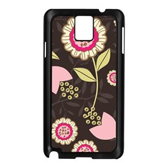 Flowers Wallpaper Floral Decoration Samsung Galaxy Note 3 N9005 Case (black)