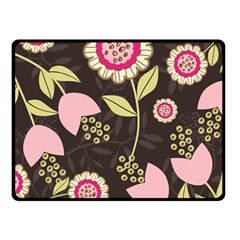 Flowers Wallpaper Floral Decoration Double Sided Fleece Blanket (small)