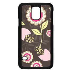 Flowers Wallpaper Floral Decoration Samsung Galaxy S5 Case (black) by Nexatart