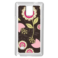 Flowers Wallpaper Floral Decoration Samsung Galaxy Note 4 Case (white)