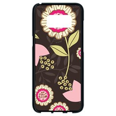 Flowers Wallpaper Floral Decoration Samsung Galaxy S8 Black Seamless Case by Nexatart