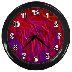 Background Texture Pattern Wall Clocks (black)