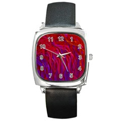 Background Texture Pattern Square Metal Watch by Nexatart