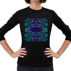 Abstract Pattern Desktop Wallpaper Women s Long Sleeve Dark T Shirts