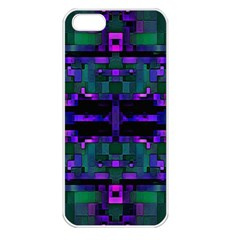 Abstract Pattern Desktop Wallpaper Apple Iphone 5 Seamless Case (white)
