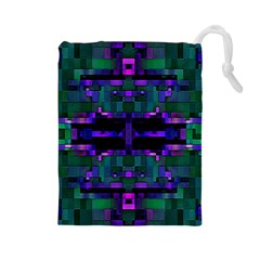 Abstract Pattern Desktop Wallpaper Drawstring Pouches (large)  by Nexatart