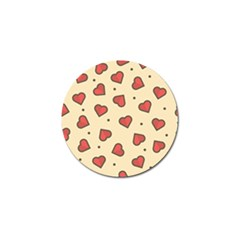 Design Love Heart Seamless Pattern Golf Ball Marker (10 Pack)