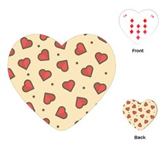 Design Love Heart Seamless Pattern Playing Cards (heart)