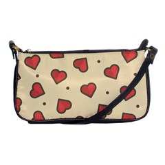 Design Love Heart Seamless Pattern Shoulder Clutch Bags by Nexatart