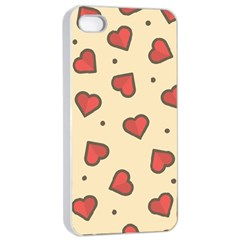 Design Love Heart Seamless Pattern Apple Iphone 4/4s Seamless Case (white) by Nexatart
