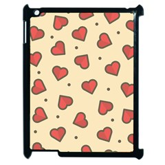 Design Love Heart Seamless Pattern Apple Ipad 2 Case (black)