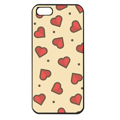 Design Love Heart Seamless Pattern Apple Iphone 5 Seamless Case (black)