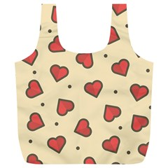 Design Love Heart Seamless Pattern Full Print Recycle Bags (l)