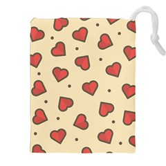 Design Love Heart Seamless Pattern Drawstring Pouches (xxl) by Nexatart