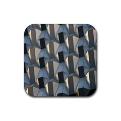 Pattern Texture Form Background Rubber Square Coaster (4 Pack)  by Nexatart