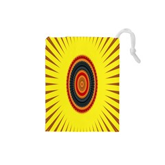 Art Decoration Wallpaper Bright Drawstring Pouches (small)  by Nexatart