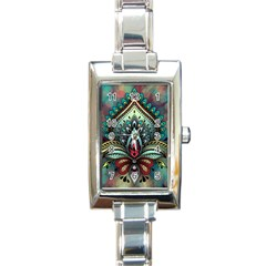 Decoration Pattern Ornate Art Rectangle Italian Charm Watch by Nexatart