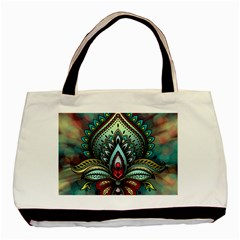 Decoration Pattern Ornate Art Basic Tote Bag (two Sides)