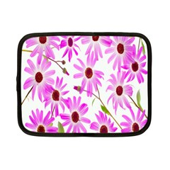 Pink Purple Daisies Design Flowers Netbook Case (small)