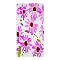 Pink Purple Daisies Design Flowers Shower Curtain 36  X 72  (stall)  by Nexatart