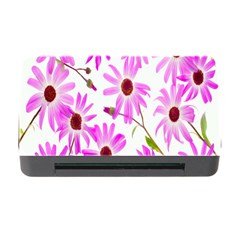 Pink Purple Daisies Design Flowers Memory Card Reader With Cf