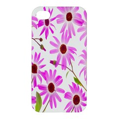 Pink Purple Daisies Design Flowers Apple Iphone 4/4s Hardshell Case