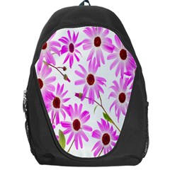 Pink Purple Daisies Design Flowers Backpack Bag by Nexatart