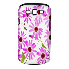 Pink Purple Daisies Design Flowers Samsung Galaxy S Iii Classic Hardshell Case (pc+silicone) by Nexatart