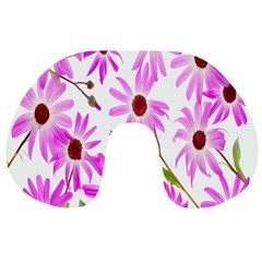 Pink Purple Daisies Design Flowers Travel Neck Pillows