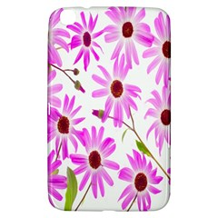 Pink Purple Daisies Design Flowers Samsung Galaxy Tab 3 (8 ) T3100 Hardshell Case