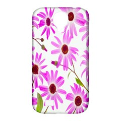 Pink Purple Daisies Design Flowers Samsung Galaxy S4 Classic Hardshell Case (pc+silicone)