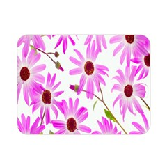 Pink Purple Daisies Design Flowers Double Sided Flano Blanket (mini)