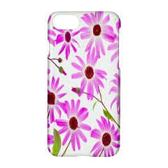 Pink Purple Daisies Design Flowers Apple Iphone 8 Hardshell Case