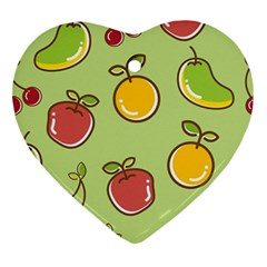 Seamless Pattern Healthy Fruit Ornament (heart) by Nexatart