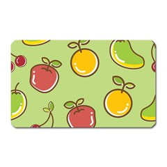Seamless Pattern Healthy Fruit Magnet (rectangular)