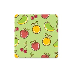 Seamless Pattern Healthy Fruit Square Magnet by Nexatart