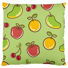 Seamless Pattern Healthy Fruit Large Flano Cushion Case (one Side)