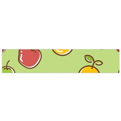 Seamless Pattern Healthy Fruit Small Flano Scarf by Nexatart
