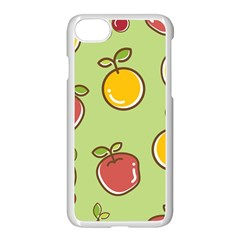 Seamless Pattern Healthy Fruit Apple Iphone 7 Seamless Case (white)