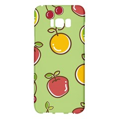 Seamless Pattern Healthy Fruit Samsung Galaxy S8 Plus Hardshell Case  by Nexatart