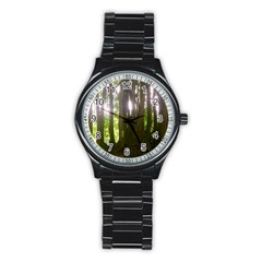 Tree Of Trees Stainless Steel Round Watch
