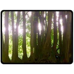 Tree Of Trees Double Sided Fleece Blanket (large)  by DeneWestUK
