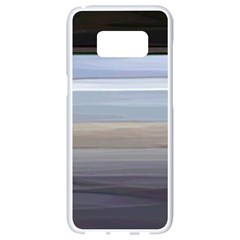 Pompey Beach Samsung Galaxy S8 White Seamless Case by DeneWestUK